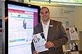 2013 auf der Wirschaftsmesse Hannover, Stand Mediengruppe Madsack, Philipp Dempewolf für den Stellenmarkt und die online-Jobbörse über haz-job.de.jpg