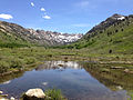 2014-06-23 14 17 13 Ponds along Lamoille Creek and Lamoille Canyon Road in Lamoille Canyon, Nevada.JPG