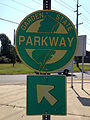 2014-08-27 10 55 14 Sign for the Garden State Parkway at the Red Lion Circle in Southampton Township, New Jersey.JPG