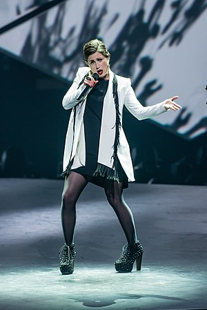 "Germany in the Eurovision Song Contest 2015 - Ann Sophie performing ""Black Smoke"" at Unser Song für Österreich"