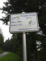 2015 Mountain pass cycling milestone – Hourquette d Ancizan Ancizan.jpg