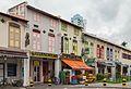 2016 Singapur, Little India, Ulica Kerbau, Domy-sklepy (04).jpg