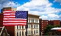 2017.07.02 Rainbow and US Flags Flying Washington, DC USA 7200 (35542379611).jpg