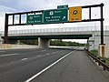2018-05-22 07 16 39 View north along U.S. Route 9 and New Jersey State Route 444 (Garden State Parkway) at Exit 50 (U.S. Route 9 NORTH, New Gretna, Tuckerton) in Bass River Township, Burlington County, New Jersey.jpg