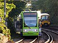 2537 at Beckenham Junction passes 465005 to Victoria - 14385972359.jpg