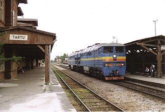 Tartu railway station - Image: 2TE116 1699 in Tartu