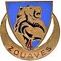 2e modéle de l'insigne régimentaire du 4er Régiment de Zouaves..jpg