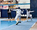 2nd Leonidas Pirgos Fencing Tournament. Nikolaos Tsokas on the attack.jpg