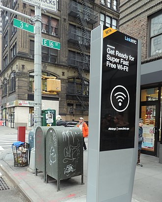LinkNYC - A Link at Third Avenue and 16th Street in Manhattan