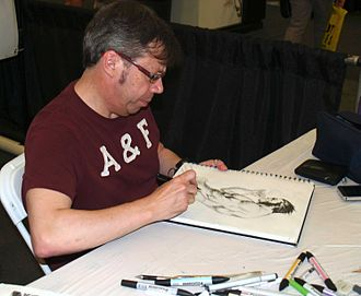 Wolverine (character) - Carlos Pacheco sketching Wolverine at the 2013 Wizard World New York Experience