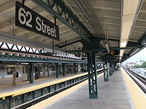 New Utrecht Avenue/62nd Street (New York City Subway) - Image: 62nd Street (West End Platform)
