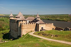Panoramic view of the Khotyn Fortress.