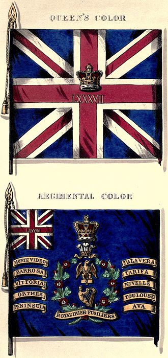87th (Royal Irish Fusiliers) Regiment of Foot - Regimental colours
