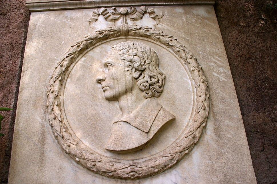 9069 - Roma - Cimitero acattolico - Lapide a John Keats (1795-1821) - Foto Giovanni Dall'Orto, 31-March-2008