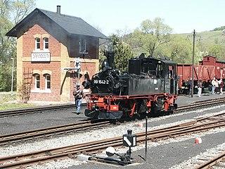 Pressnitz Valley Railway narrow gauge railway line in Saxony, Germany