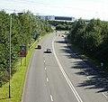 A48 east from Coedkernew Footbridge - geograph.org.uk - 1802518.jpg