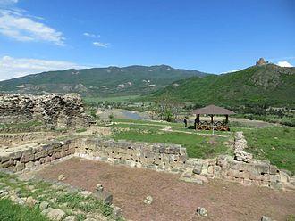 Armazi - The ruins of a six-column hall in the Armazi palace on Mt. Bagineti (1st century BC).