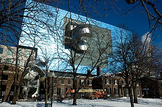 Art Gallery of Ontario - The wood and glass northern facade of AGO, along Dundas Street