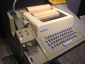 Teleprinter - A Teletype Model 33 ASR teleprinter, with punched tape reader and punch, usable as a computer terminal
