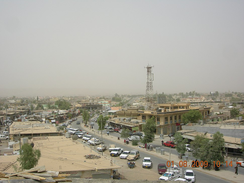 A Chamchamal town center view, 2009