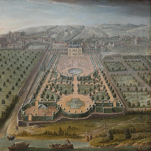 A French estate 18th century park view