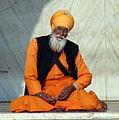 A Sikh devotee at Gurudwara Bangla Sahib, Delhi.jpg
