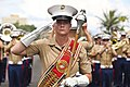 A drum major of the III Marine Expeditionary Forces Band, US Marine Corp.jpg