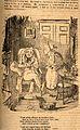 A hypochondriac at home with his anxious nurse. Wood engravi Wellcome V0011262.jpg