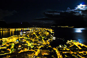 Ålesund - Aalesund (Norway) by night, 7