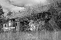 Abandoned depot and caboose, Big Flats, New York, October 1995.jpg