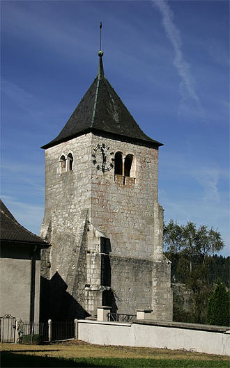 L'Abbaye - Church tower of L'Abbaye