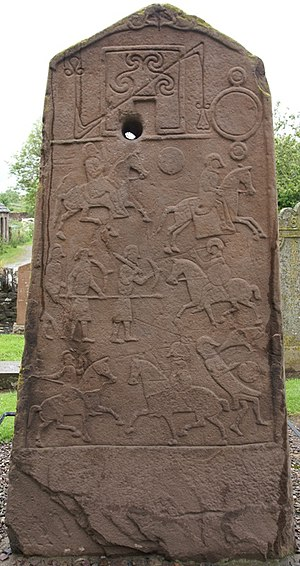 Triple disc (Pictish symbol) - Image: Aberlemno Churchyard Cross Slab 20090616