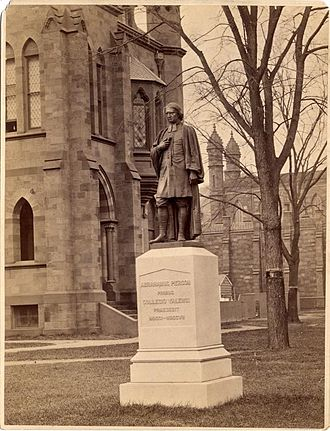 Launt Thompson - Image: Abraham Pierson statue Old Campus Yale University
