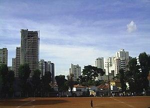 Campo de futebol no Parque da Aclimação.