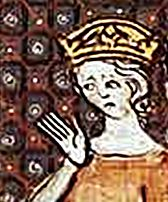 Adelheid of Friuli in a picture from the 14th century