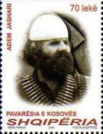 Adem Jashari - Jashari on a 2008 stamp of Albania