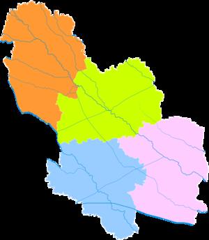Bozhou - Image: Administrative Division Bozhou