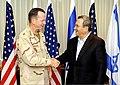 Admiral Mullen Shakes Hands With Israeli Defense Minister Barak (4739744631).jpg