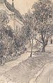 Adolf von Menzel Spazierweg zu einem Haus entlang eines Baches 1882.jpg