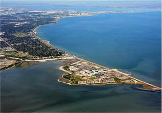 Corpus Christi Bay - Corpus Christi Bay (right), Nueces Bay (top), and Oso Bay (bottom)