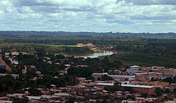 Panorama view of Downtown Tarauacá and Rio Blanco