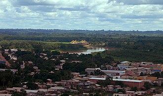 Tarauacá - Panorama view of Downtown Tarauacá and Rio Blanco