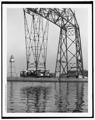 Aerial Lift Bridge - Aerial gondola, circa 1908