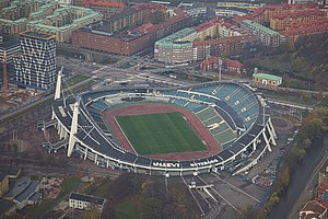 1958 FIFA World Cup - Image: Aerial photo of Gothenburg 2013 10 27 225