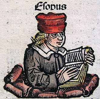 The Morall Fabillis of Esope the Phrygian - Aesop, as depicted by Hartmann Schedel in 1493.