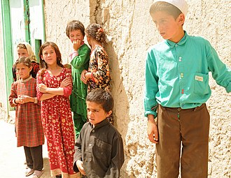 Demographics of Afghanistan - Tajik children in Khowahan district of Badakhshan