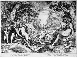 Le bonheur de vivre - Image: Agostino Carracci Reciproco Amore or Love in the Golden Age