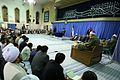 Ahmad Mohammad Amer in International Quran Competition's participants Meeting With Ali Khamenei 2013 07.jpg