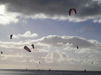 Ainsdale - Kitesurfing at Ainsdale beach