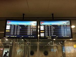 Air Sinai - Image: Air Sinai Flights on Departure Board at Cairo Airport